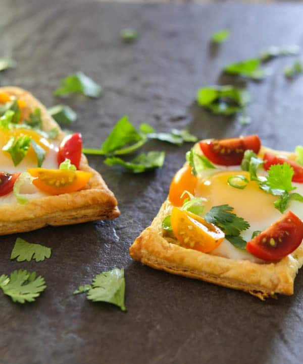 Puff Pastry Egg Tarts @EclecticEveryday