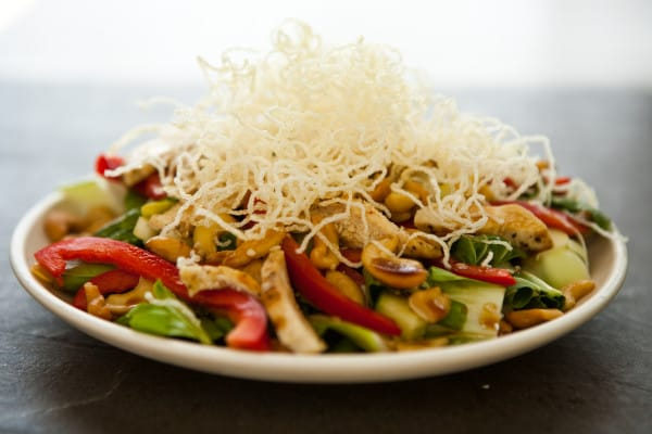 Asian Style Cashew Chicken Salad with Sesame Soy Vinaigrette @EclecticEveryday