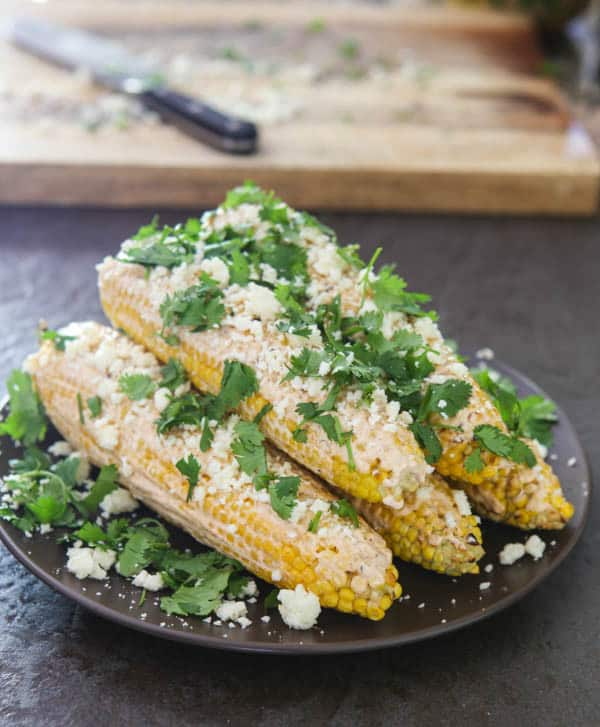 Mexican Grilled Corn @EclecticEveryday