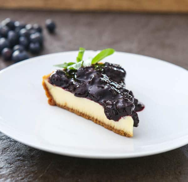Florida Blueberry Cheesecake @EclecticEveryday