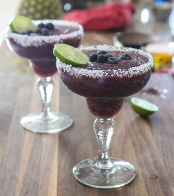 Blueberry Margaritas @EclecticEveryday