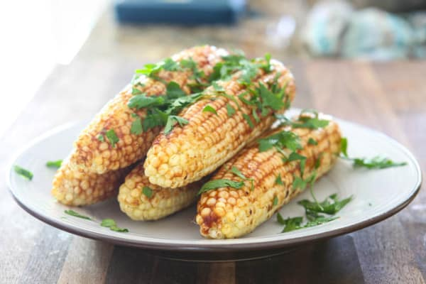 Florida Sweet Corn with Southern Barbecue Butter @EclecticEveryday