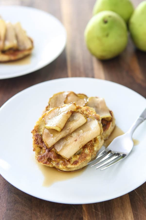 Pumpkin Pear English Muffin French Toast @EclecticEveryday