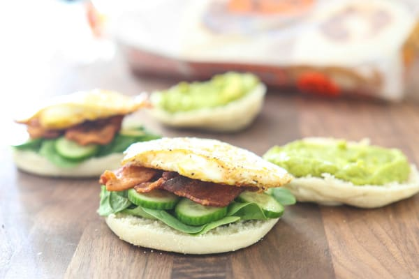 Bacon, Avocado and Egg English Muffin Sandwich @EclecticEveryday