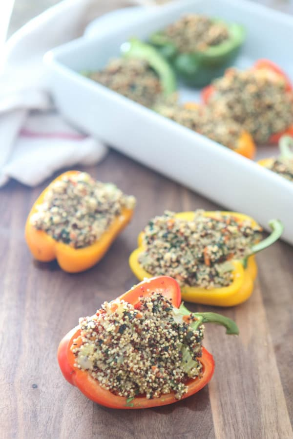 Quinoa Stuffed Bell Peppers @EclecticEveryday