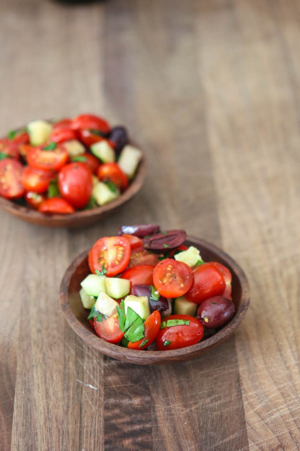 Fresh Tomato Olive Salad @EclecticEveryday