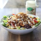 BBQ Chicken Ranch Salad @EclecticEveryday