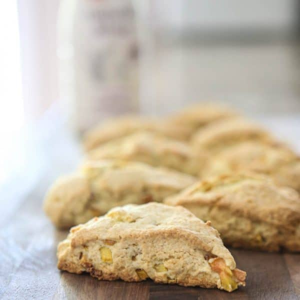 Peaches and Cream Scones @EclecticEveryday
