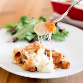 Summer Veggie Baked Ziti Recipe @EclecticEveryday