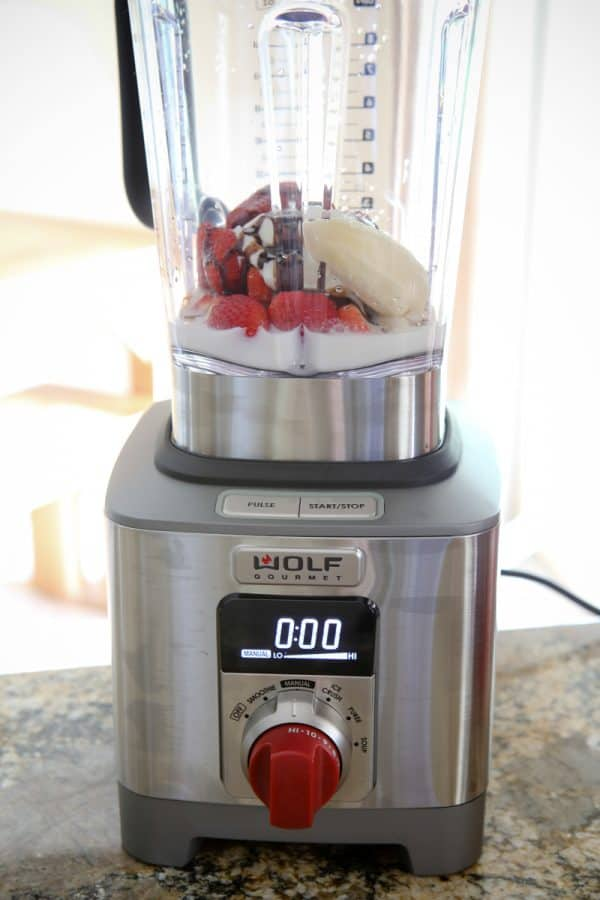 Chocolate Strawberry Banana Smoothies & Wolf Gourmet Blender Giveaway @EclecticEveryday
