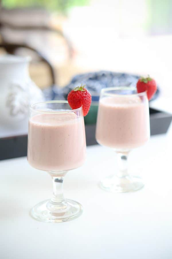Chocolate Strawberry Banana Smoothies