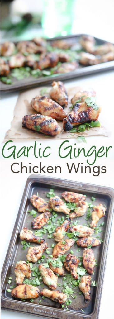Garlic Ginger Chicken Wings @EclecticEveryday