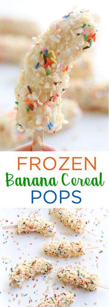 Frozen Banana Cereal Pop banner