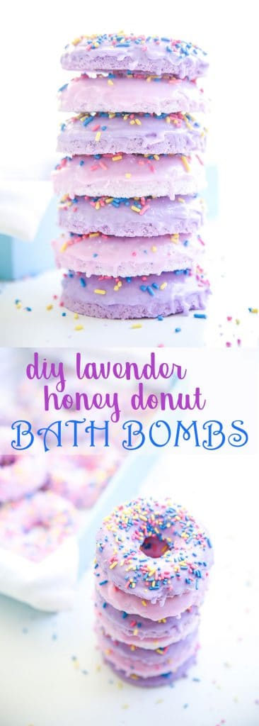 DIY Lavender Honey Donut Bath Bombs