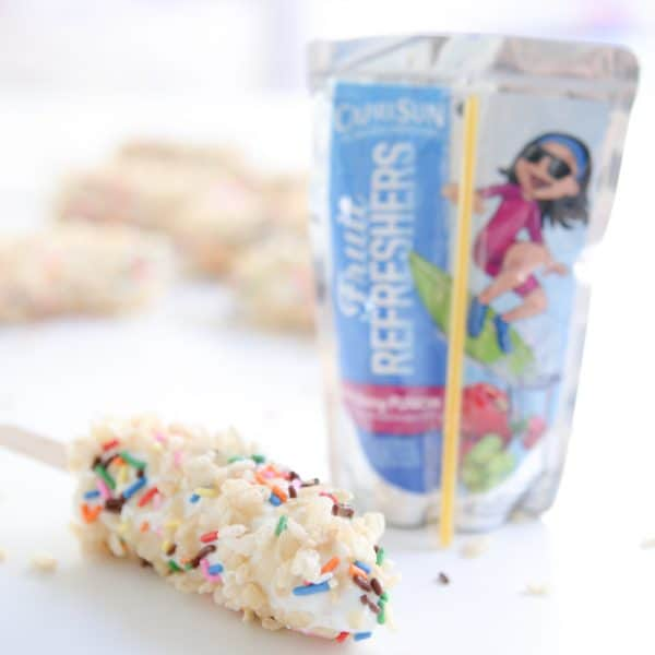 Frozen Banana Cereal Pops