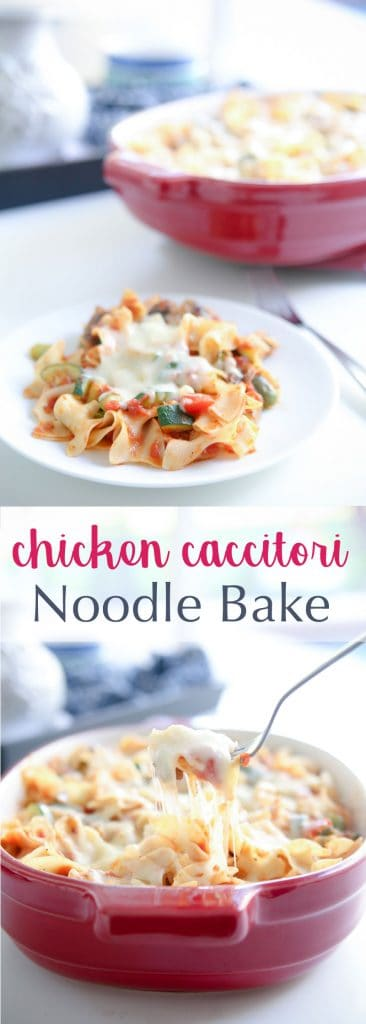 Chicken Cacciatore Noodle Bake banner