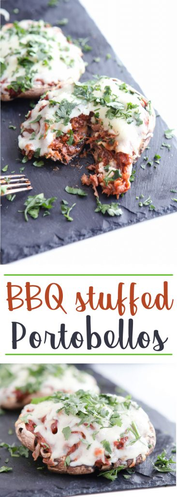 BBQ Stuffed Portobellos #recipe #grilled #Portobellos #BBQ #curly's