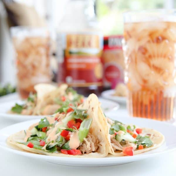 chicken tacos with tea