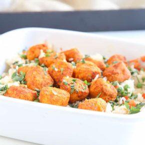 Tandoori Chicken and Rice Casserole @EclecticEveryday