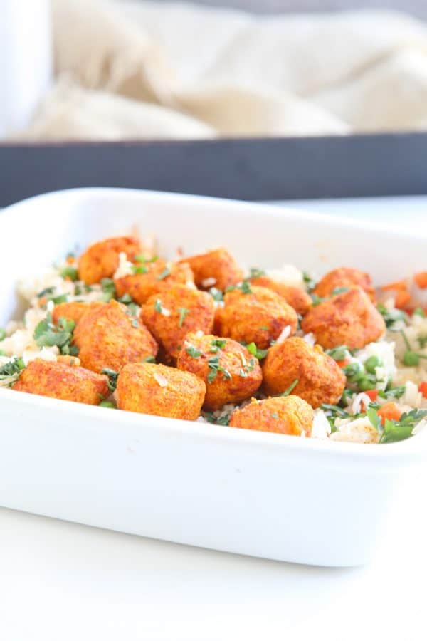Tandoori Chicken and Rice Casserole @EclecticEveryday