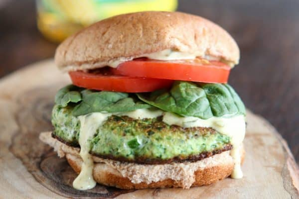 Salmon and Kale Burgers @EclecticEveryday