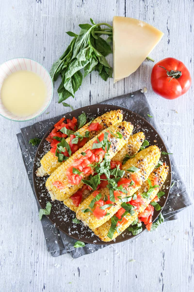 Tomato and Parmesan Florida Sweet Corn @EclecticEveryday