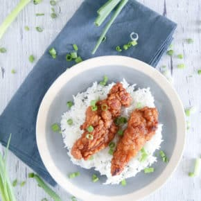 Honey Garlic Chicken Tenders @EclecticEveryday