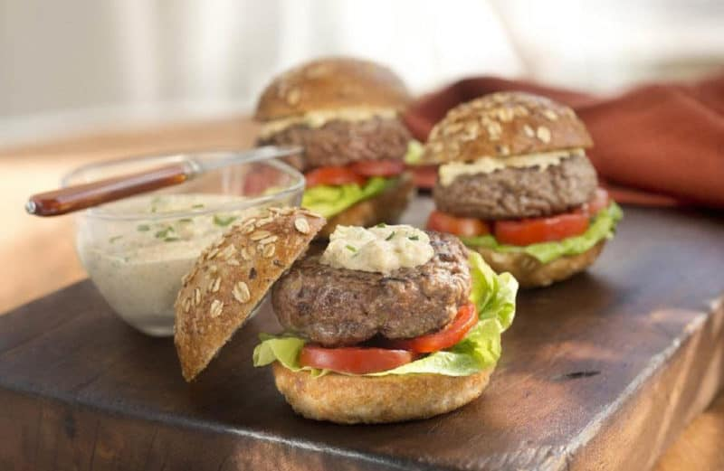 Horseradish Blue Cheese Burgers at French's Recipe Page