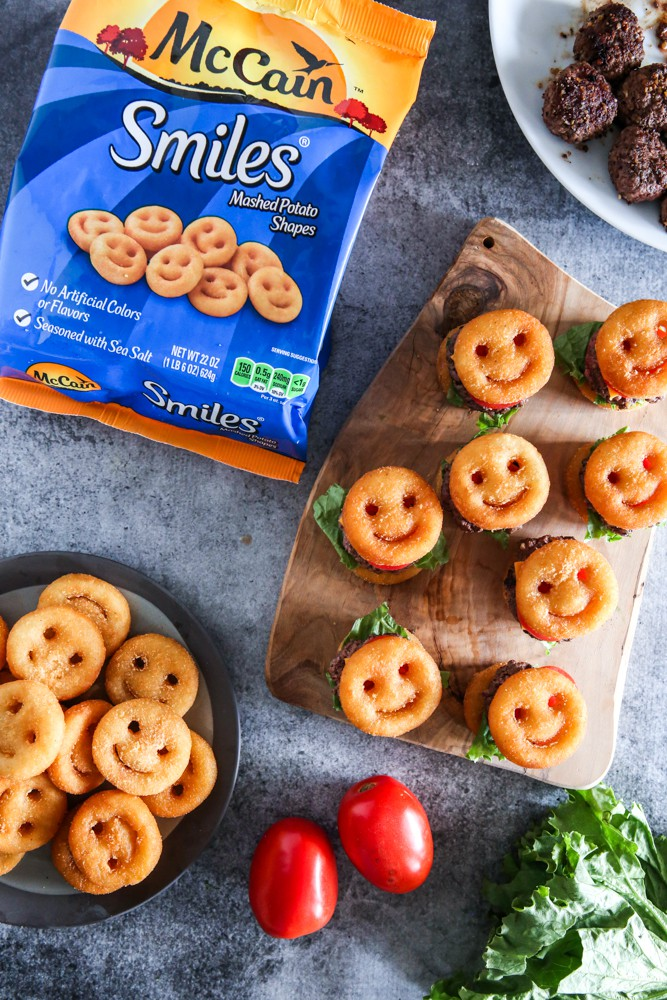 McCain Smiles Mini Cheeseburgers Recipe