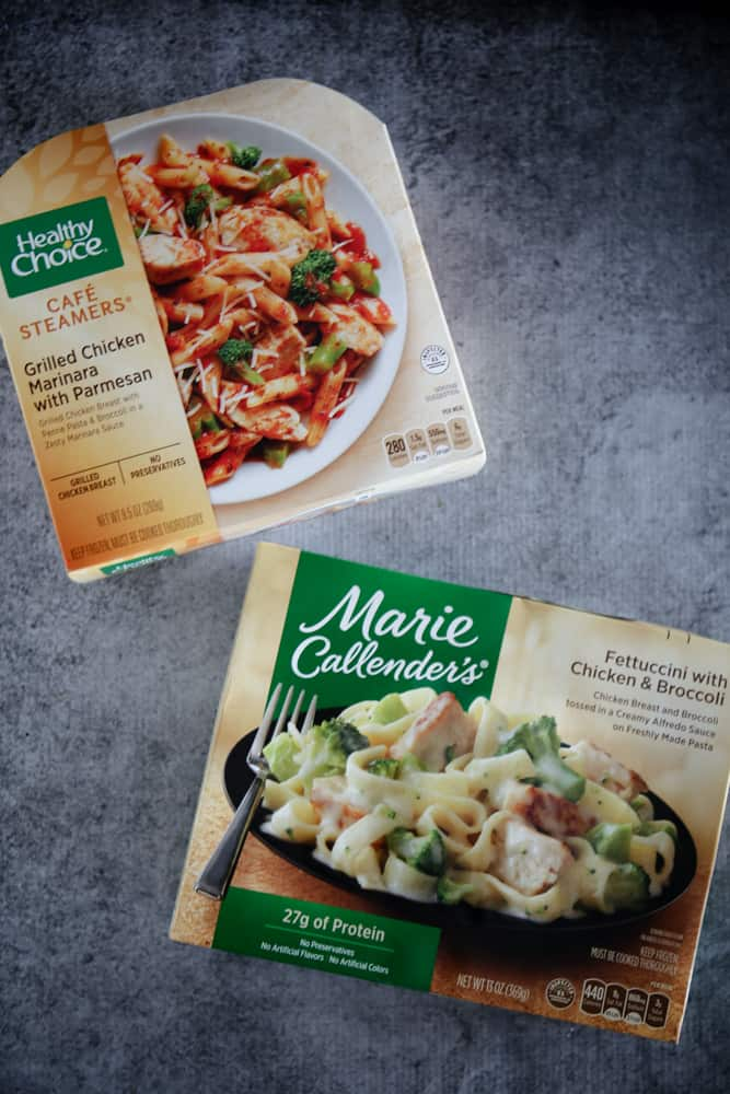 Healthy Choice® Steamer Grilled Chicken Marinara and Marie Callender's® Fettuccine with Chicken & Broccoli