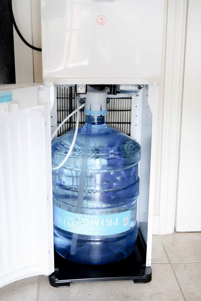 primo water jug hooked up to dispenser