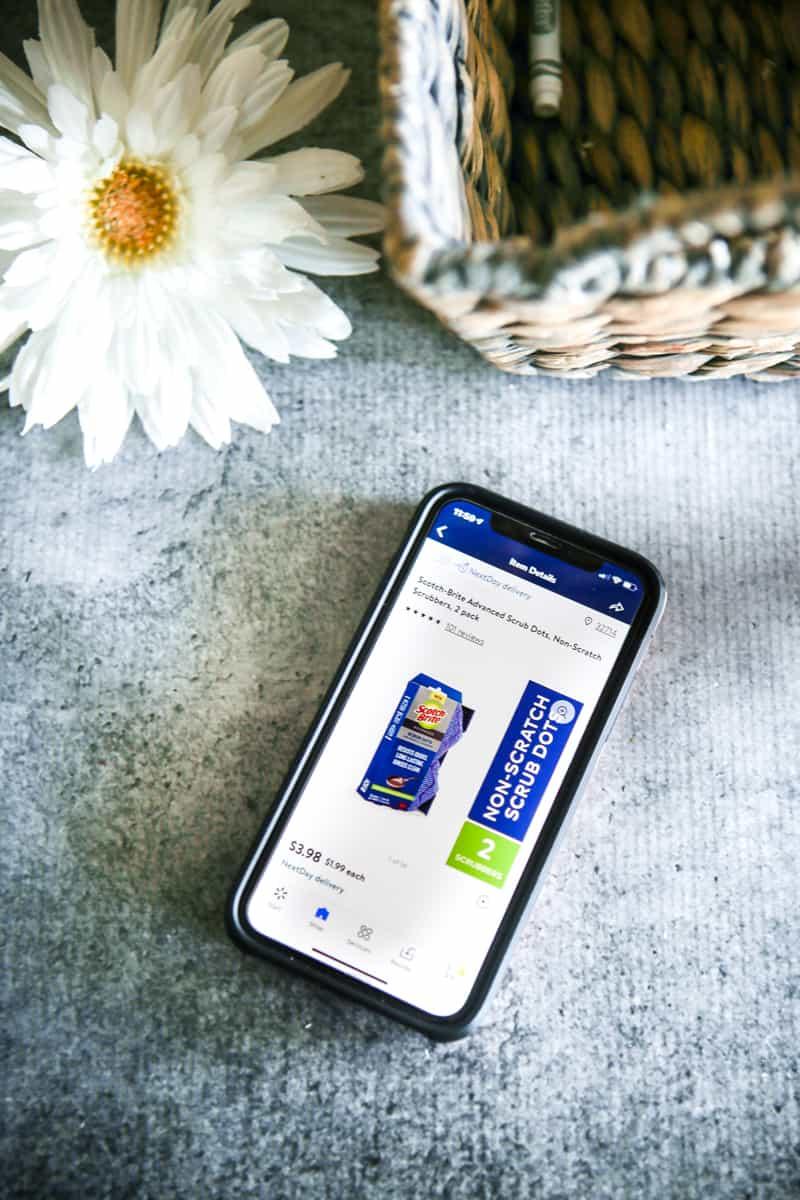 Ordering groceries iPhone