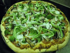 broccoli portobello pizza