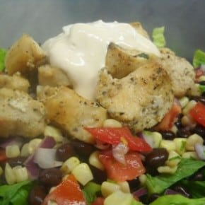 Sante Fe Salad with Sour Cream Chipotle Dressing