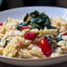 Spinach and Tomato Orzo @EclecticEveryday