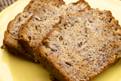 Banana Nut Bread with Streusal Topping Recipe