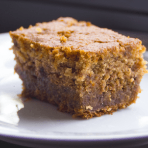 Persimmon Pudding Cake with Saffron @EclecticEveryday
