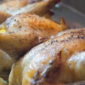 Lemon Leek Roasted Cornish Game Hens