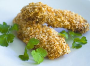 Spicy Panko Crusted Chicken Strips