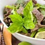 Basil Lime Beef Stir Fry @EclecticEveryday