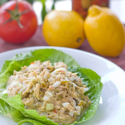 Garden Tuna Salad with Olives Recipe