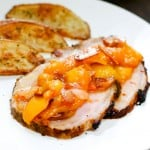 Pork Tenderloin with Peach Compote  @EclecticEveryday