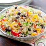 Black Bean Mango Quinoa Salad @EclecticEveryday