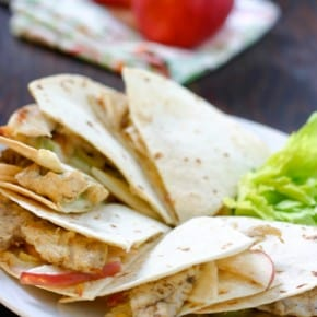 Chicken and Apple Quesadillas 1