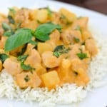 Coconut Basil Chicken Curry @EclecticEveryday
