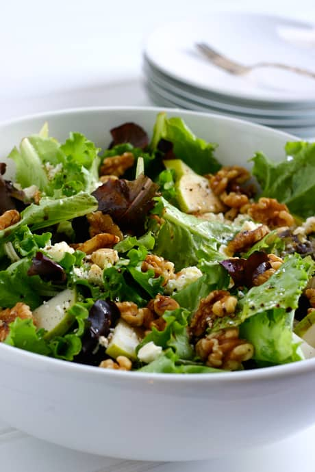 Pear Salad with Walnuts and Feta Recipe