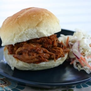 Slow Cooker Pulled Pork Sandwiches & Old-Fashioned Coleslaw