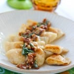 Pumpkin Pierogi with Pecan Sage Cream Sauce @EclecticEveryday