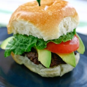 Sliders with Avocado and Chipotle Mayonnaise