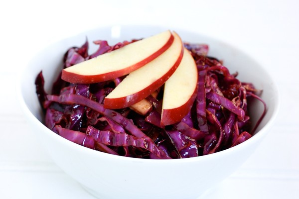 Red Cabbage Salad with Cranberries Recipe
